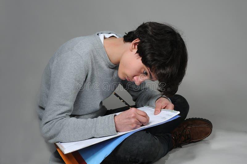 Drawing boy stock photo