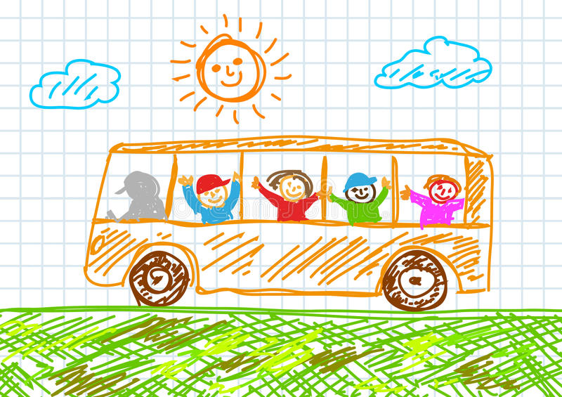 Download Drawing Of Bus Royalty Free Stock Images - Image: 21848679