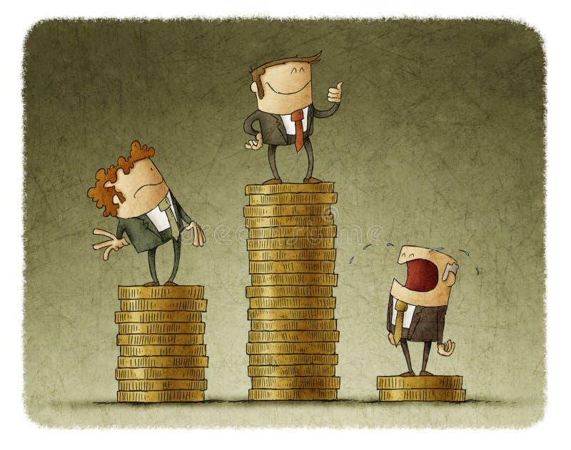 Drawing of businessmen vector illustration