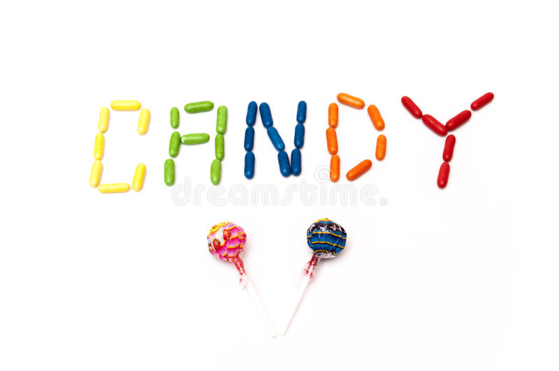 Download Drawing With Candies And Lollipops Stock Photo - Image of flavor, letters: 39502692