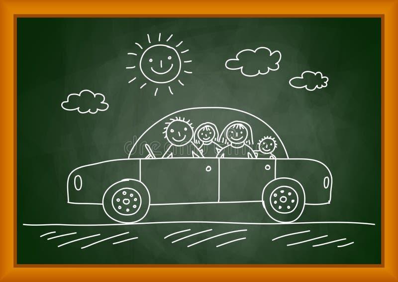 Drawing of car vector illustration