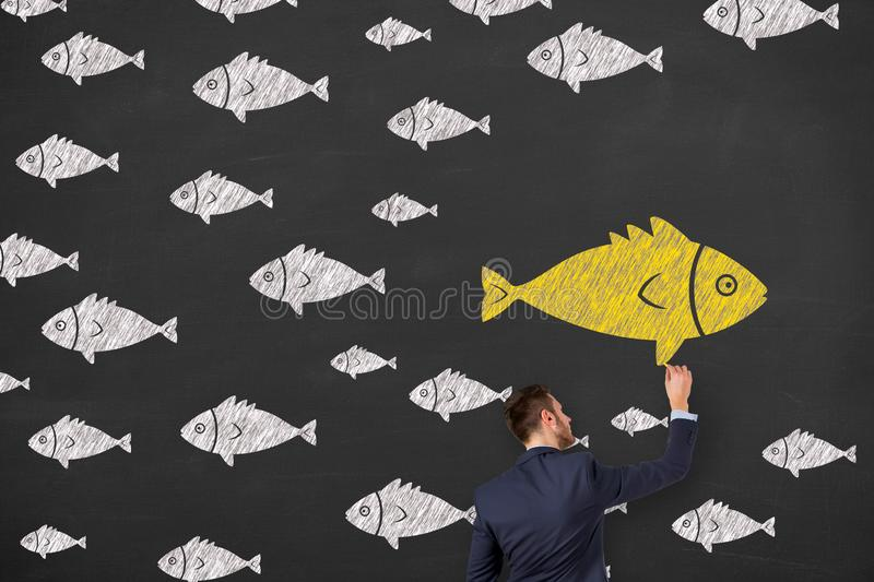Drawing Change Concepts on Blackboard Background stock image