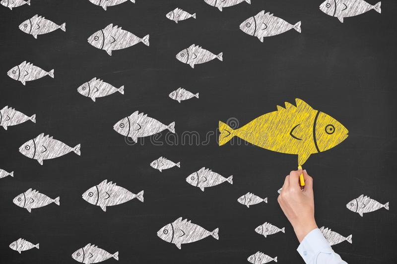 Drawing Change Concepts on Blackboard Background royalty free stock photo