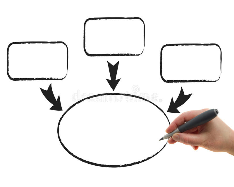 Drawing Chart. Illustration of the hand drawing graphs on the white paper background vector illustration