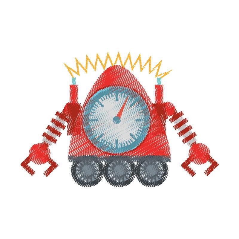 Robot Clock Laungh Rocket Clock Cutting Line Stock