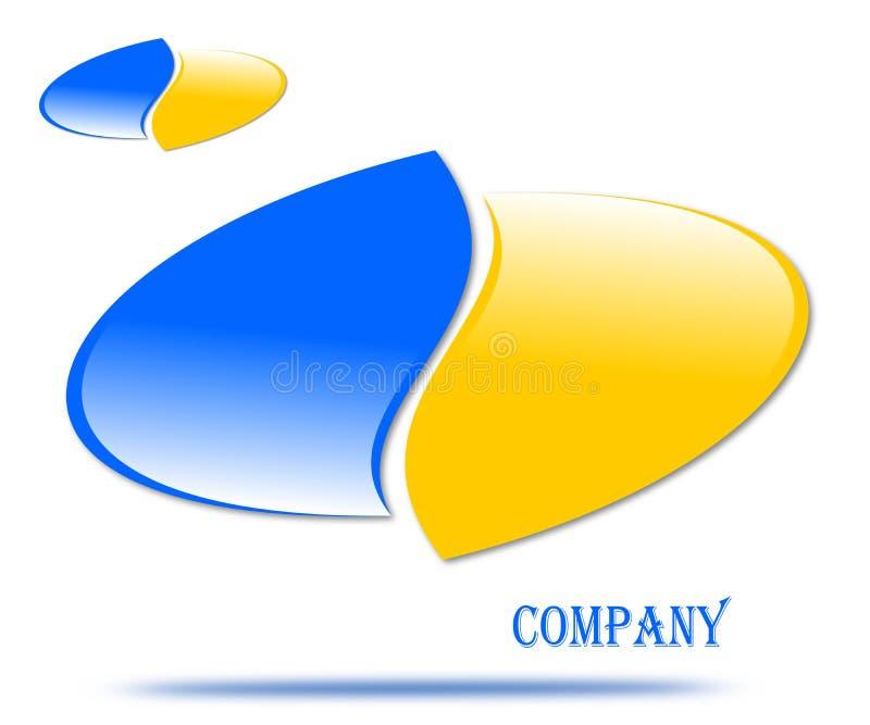 Drawing company logo emblem royalty free illustration