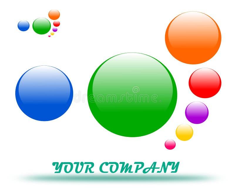 Drawing company logo. Man`s footprint. royalty free illustration