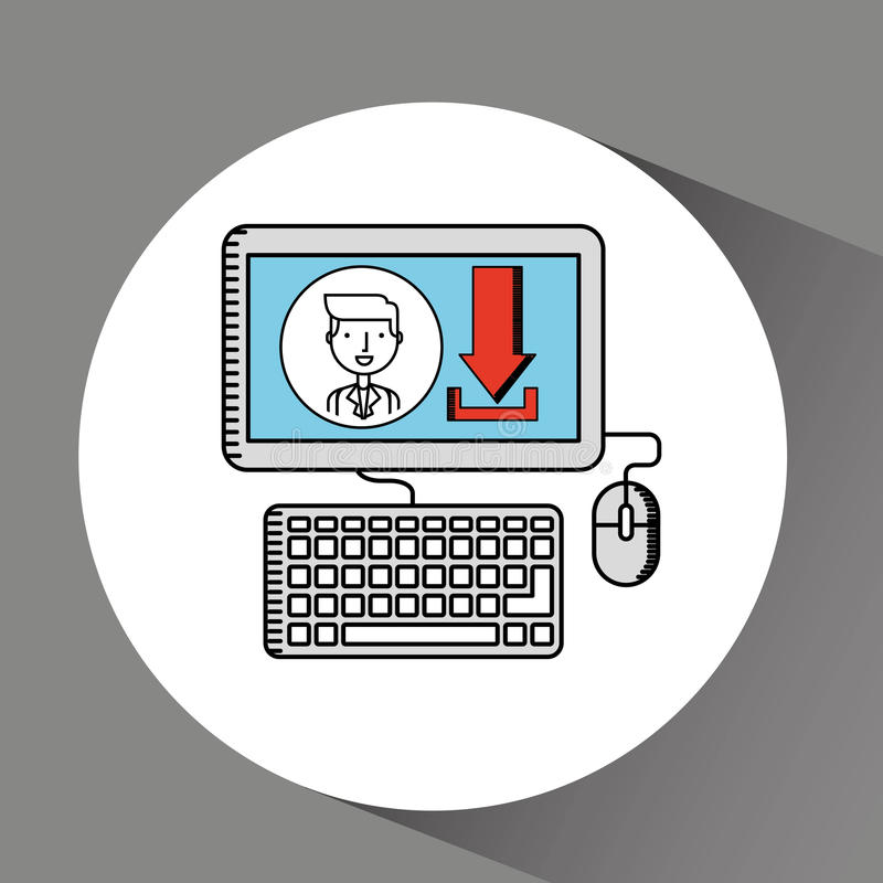 Drawing computer pc photo download. Vector illustration eps 10 vector illustration