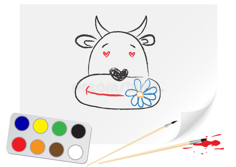 Download Drawing Cow Stock Photos - Image: 12319163