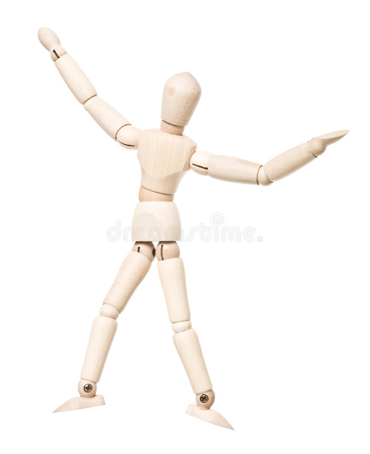 Download Drawing Doll With Arms Raised Stock Image - Image: 18820713