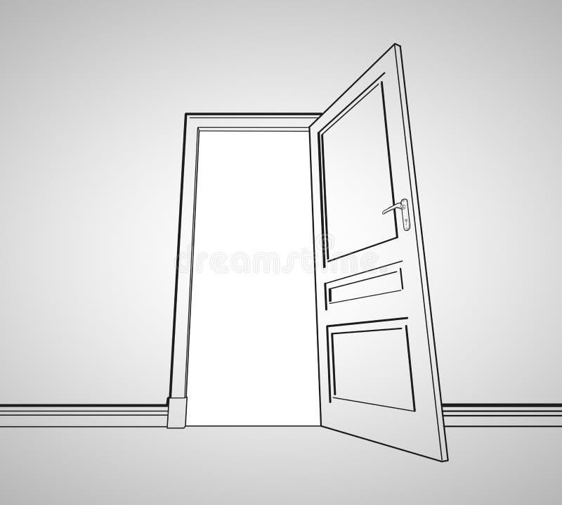 Drawing Door Royalty Free Stock Photos