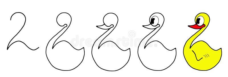 Download Drawing ducks stock illustration. Illustration of drawer - 22396255