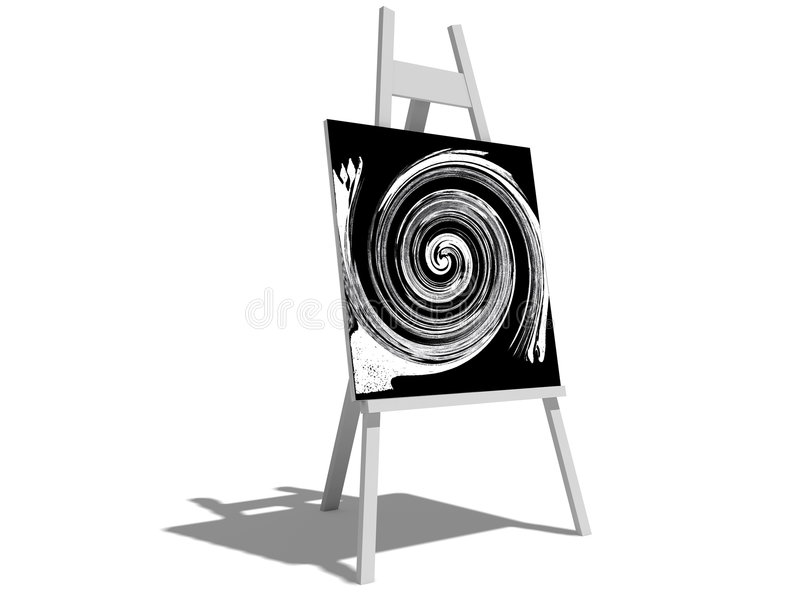 Drawing easel royalty free illustration