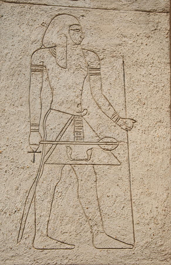 Drawing on an Egyptian theme royalty free stock photos