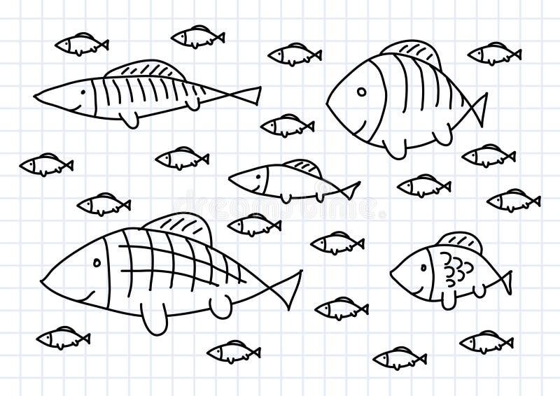 Drawing of fish royalty free illustration