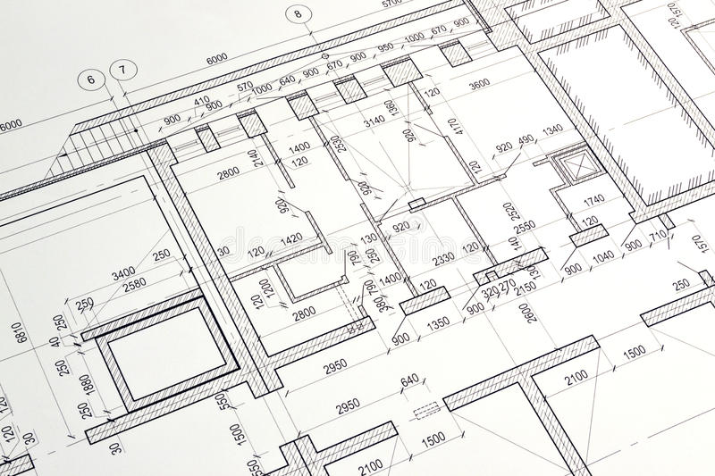 Download Drawing A Floor Plan Of The Building Stock Photo - Image of business, instrument: 42089740