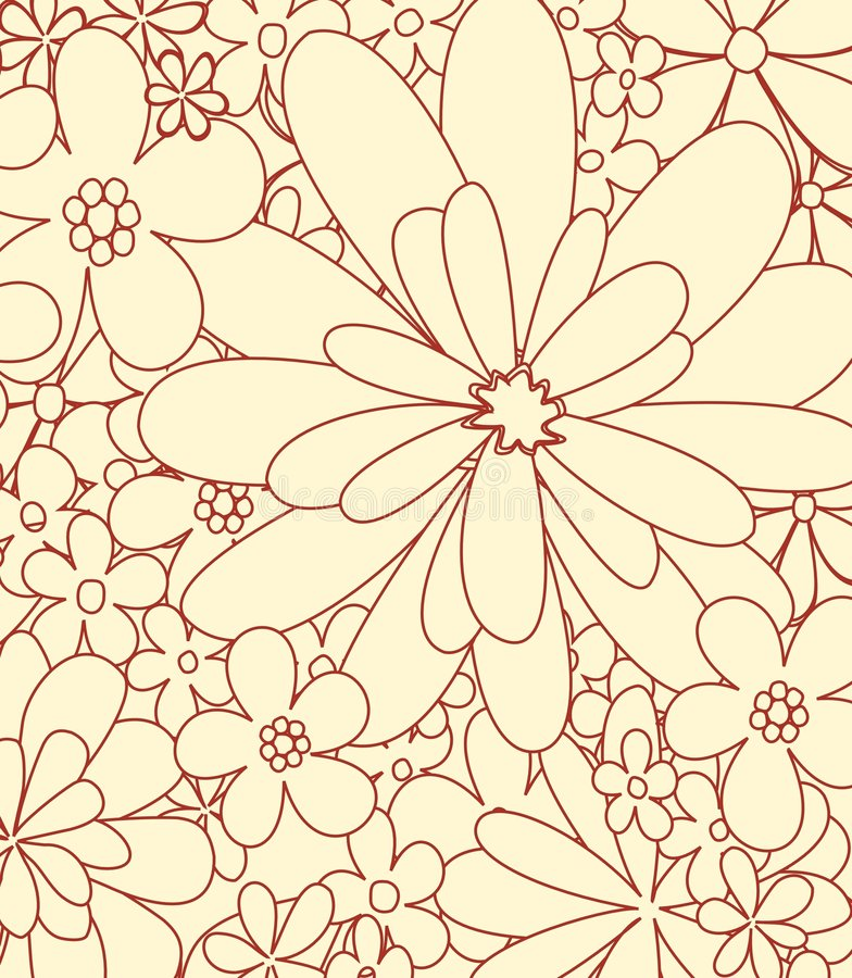 Free Drawing Flowers Vector Royalty Free Stock Photography - 9177157