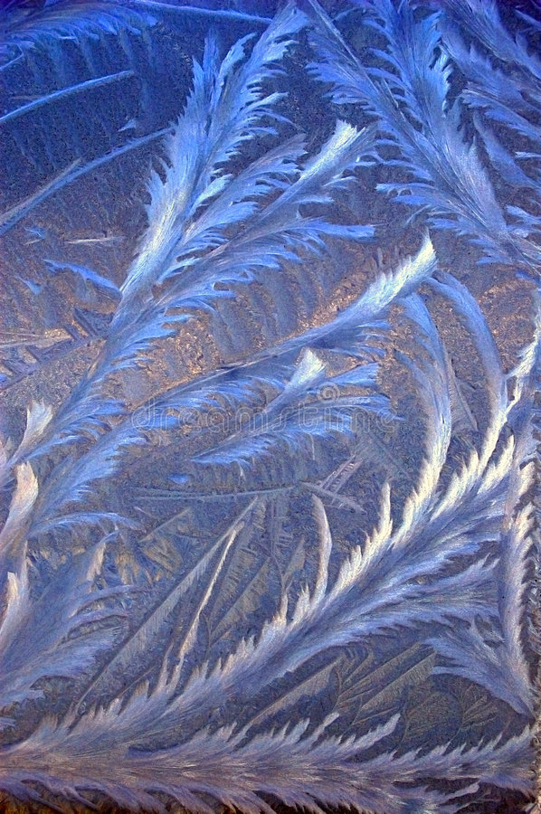 Drawing of the frost on glass royalty free stock images