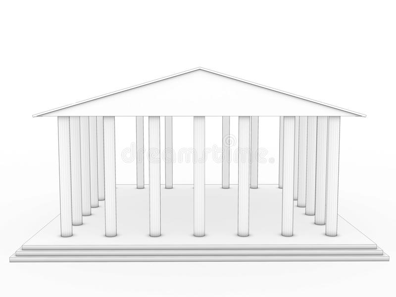 Greek Architecture Drawing drawing a greek temple #2 royalty free stock images - image: 32688119