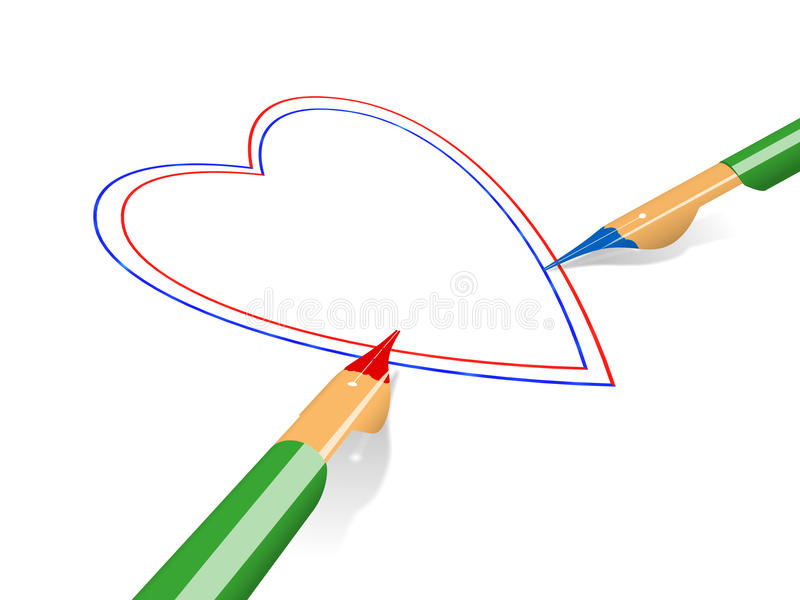 Drawing by the handle vector illustration