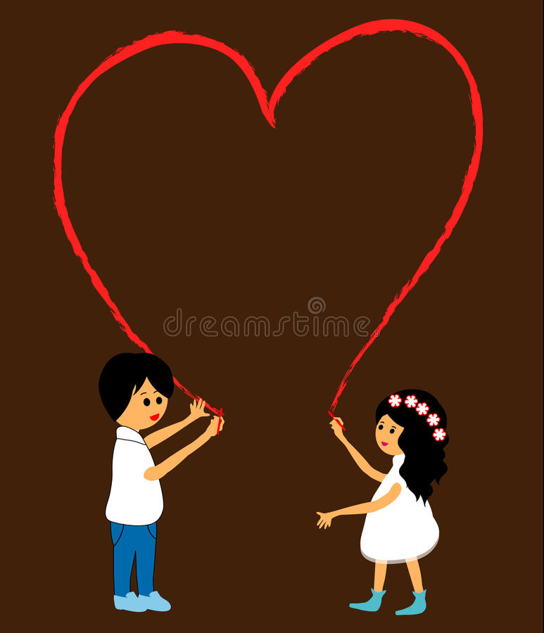 Download Drawing a heart stock image. Image of cute, couple, creativity - 31234501