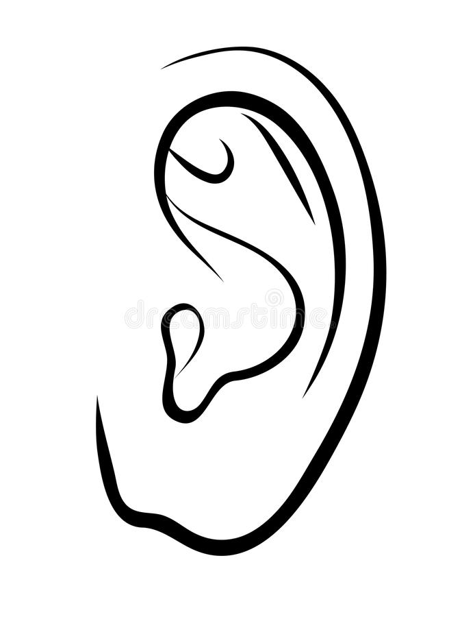 how to draw a human ear step by step