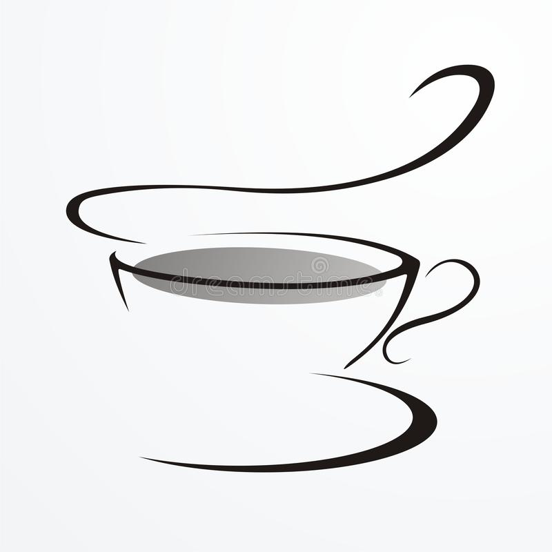 Free Drawing In Lines.cup Of Tea Royalty Free Stock Photos - 16350958
