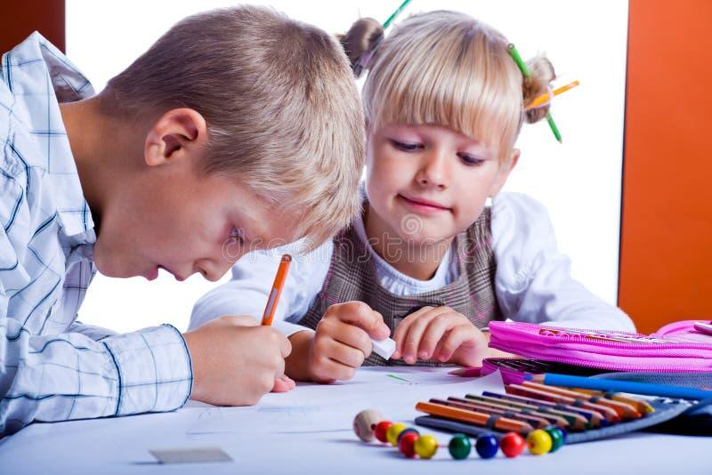 Drawing Kids 1 Stock Photos