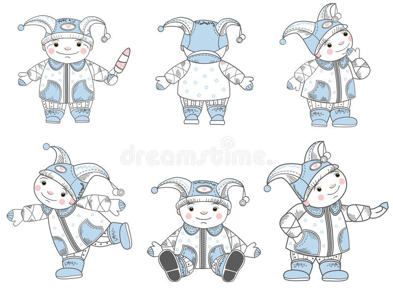 Download Drawing kids set stock vector. Image of winter, funny - 27286087