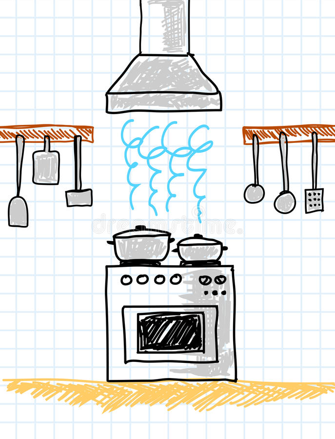 Download Drawing Of Kitchen Stock Images - Image: 23050624