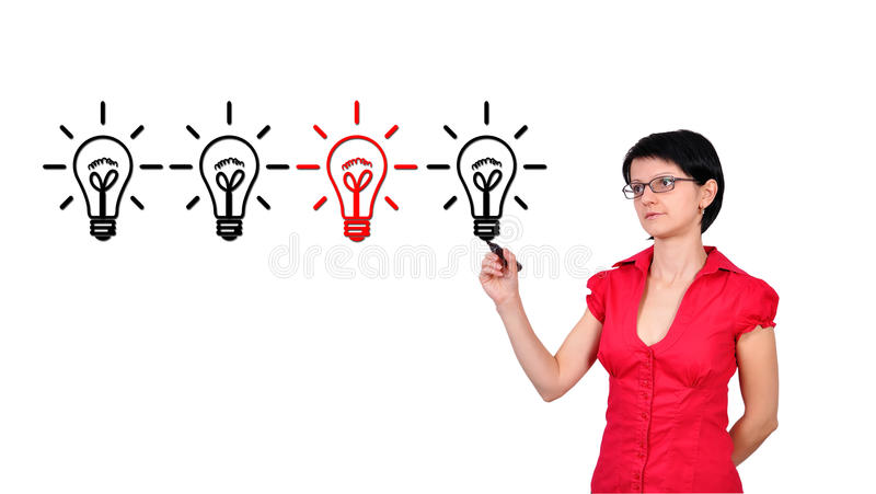 Download Drawing lamps stock photo. Image of marker, commercial - 27918024