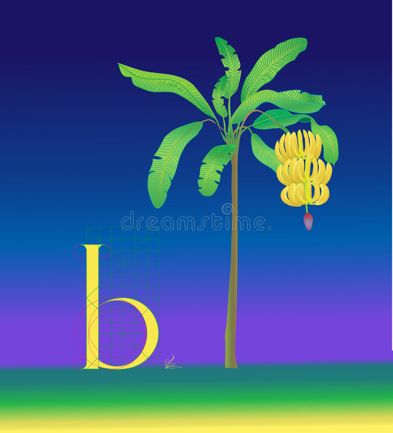Download Drawing letter b stock illustration. Illustration of alphabet - 7486365