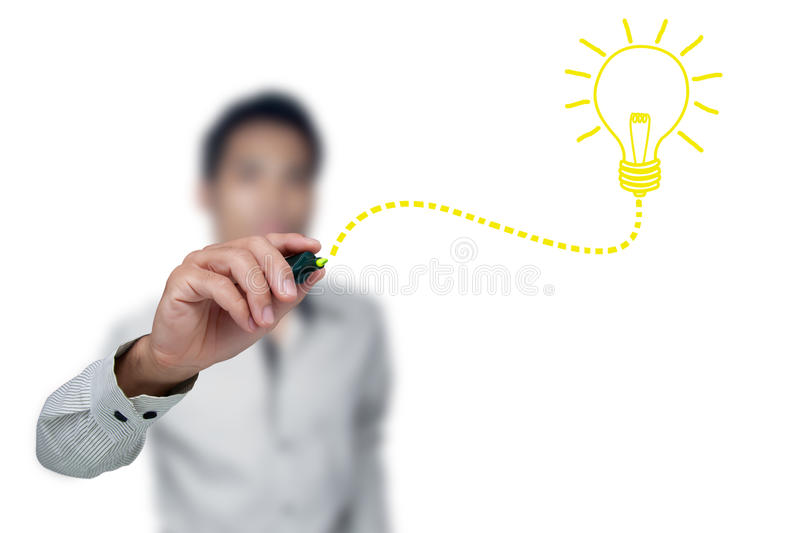 Download Drawing Light Bulb. Royalty Free Stock Photography - Image: 21233837
