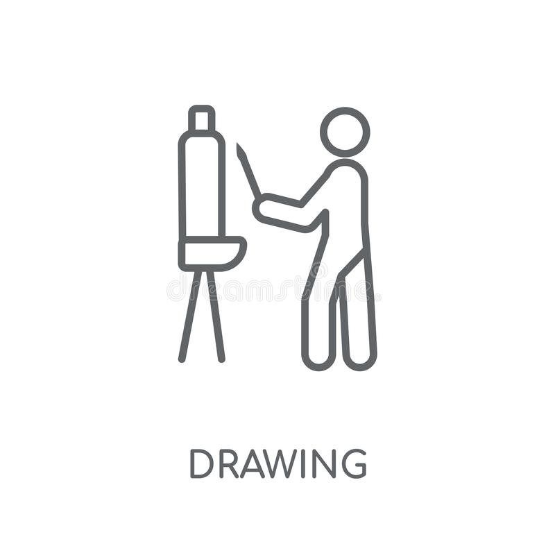 Drawing linear icon. Modern outline Drawing logo concept on whit royalty free illustration