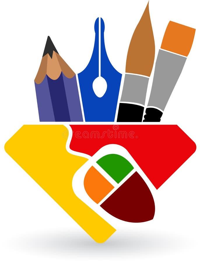 Drawing logo royalty free illustration