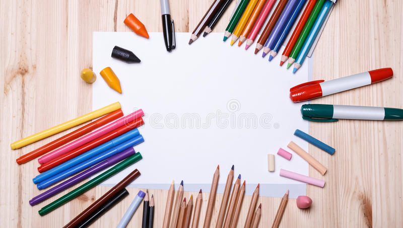 Drawing materials royalty free stock images