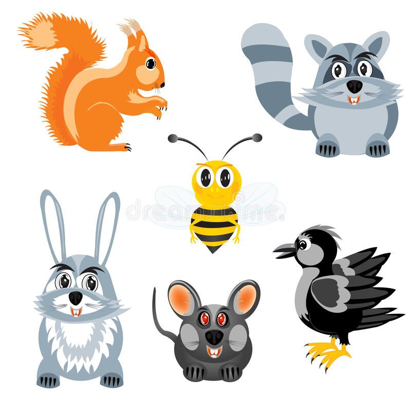 Free Drawing Of The Beasts And Birds Royalty Free Stock Photos - 27618958