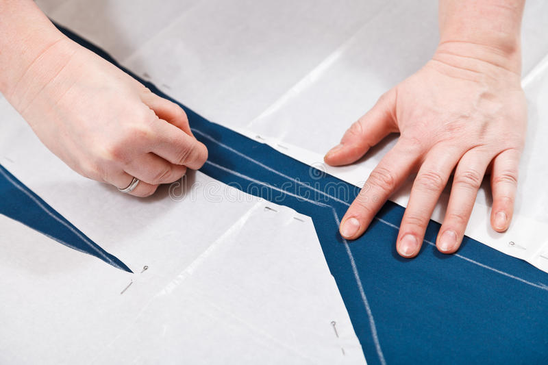 Drawing of pattern cutting for sewing. Clothes royalty free stock photography
