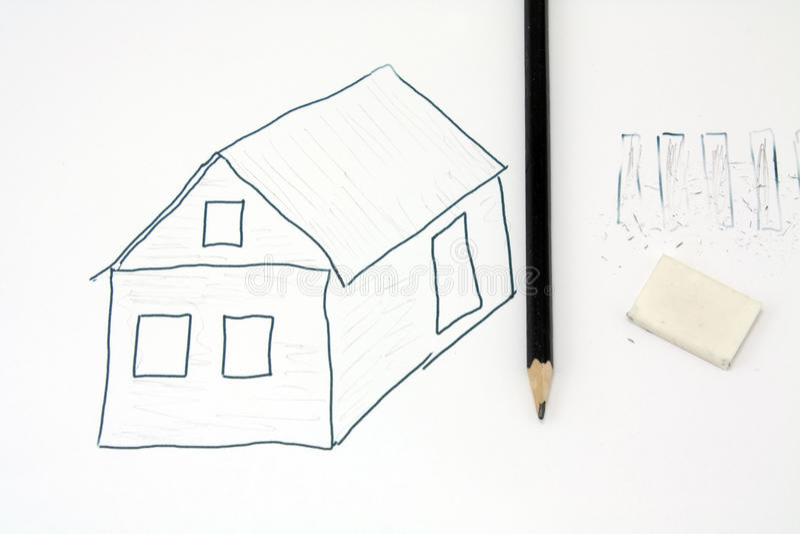 Drawing pencil stock photo