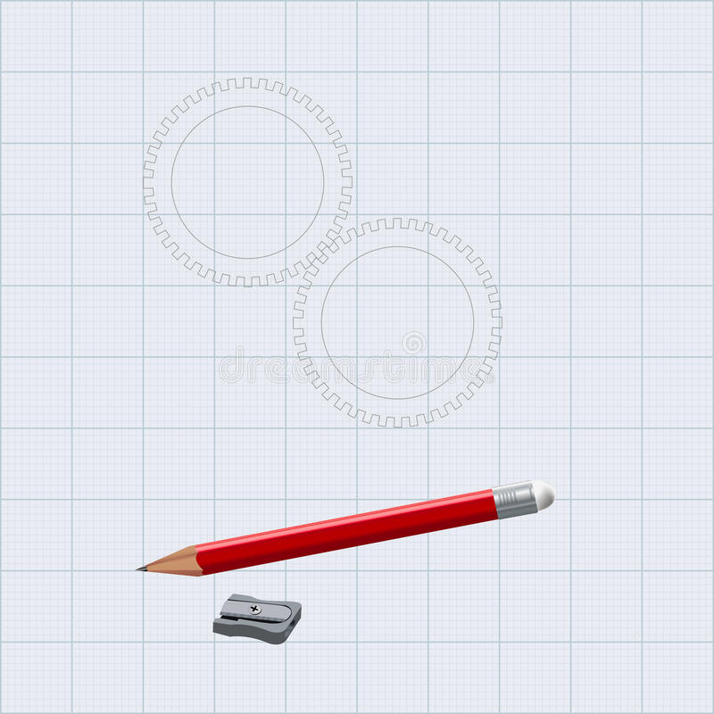 Download Drawing  Pencil With Sharpener Stock Illustration - Image: 28012588