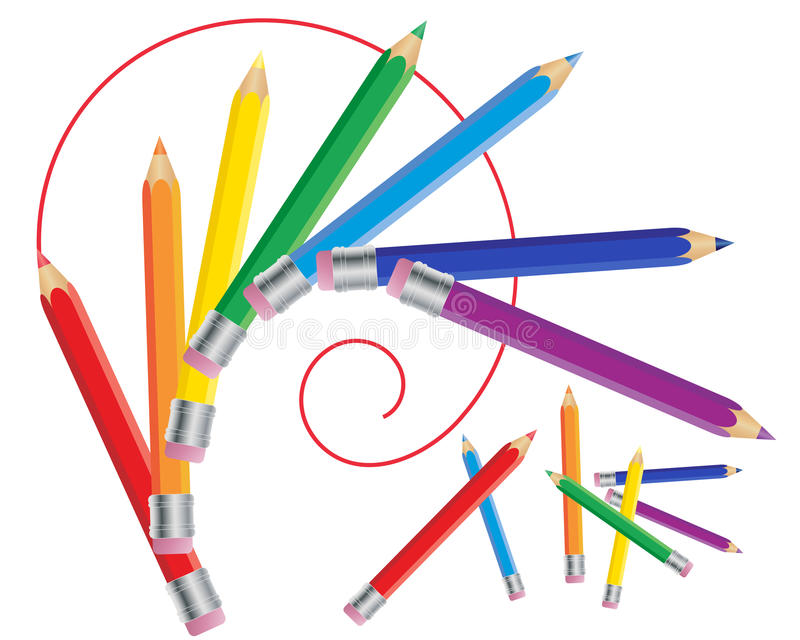 Drawing pencils vector illustration
