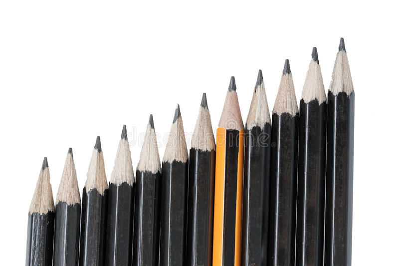 Download Drawing pencils in row stock photo. Image of isolated - 32248828