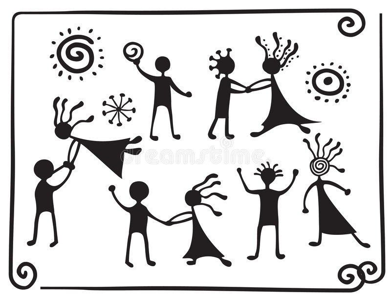 Download Drawing Pictograms Of Dancing People Stock Vector - Image: 8021110