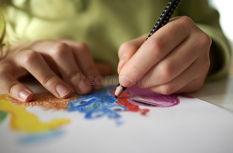 Drawing picture royalty free stock photography