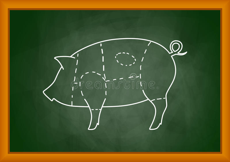 Download Drawing of pig stock vector. Image of creative, illustration - 25208738