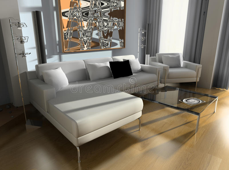 Drawing room. Modern design interior of a drawing room, exclusive design stock image