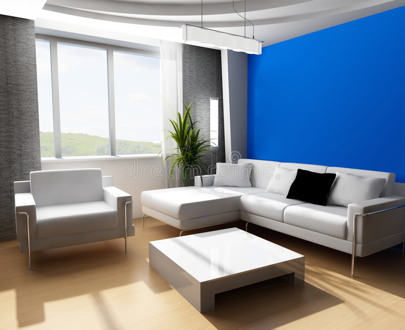 Drawing room 3d royalty free illustration