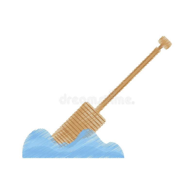 Download Drawing Rowing Wooden Boat Pirate Tool Stock Illustration