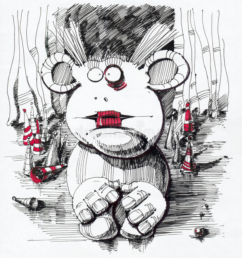 Download Drawing Sad Clown Royalty Free Stock Photo - Image: 23800185