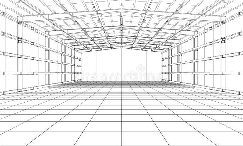 Warehouse sketch. Vector stock vector. Illustration of ...